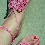 Barefoot Sandals Pink Fingerless Gl..