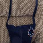 Blue Recycled Jean Purse with Beade..