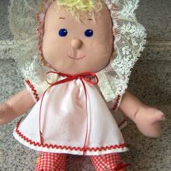 SALE 10 dollars off - Katie Doll - Machine Washable - 15 1/2 inches - Red