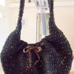Crochet Black Purse
