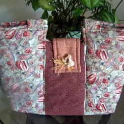 Shell Fabric Purse