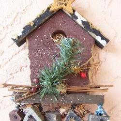 Wood Home Sweet Home Birdhouse